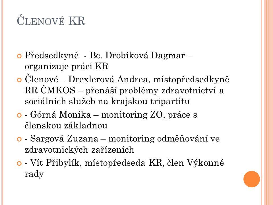 Č LENOVÉ KR Předsedkyně - Bc.