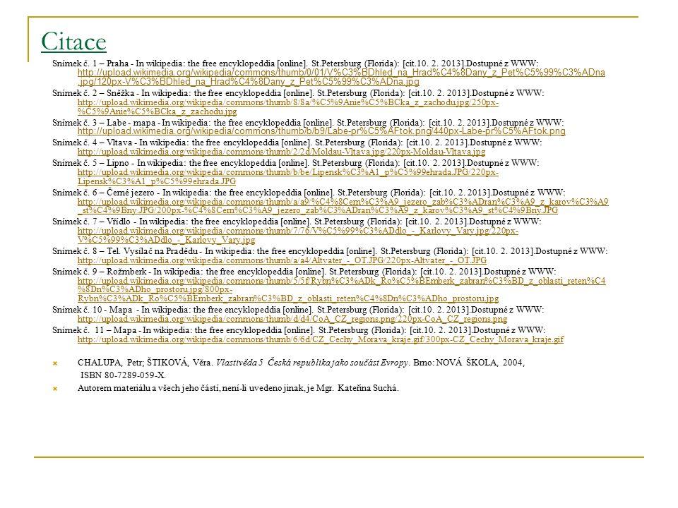 Citace Snímek č. 1 – Praha - In wikipedia: the free encyklopeddia [online].