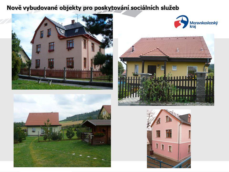 Nově vybudované objekty pro poskytování sociálních služeb