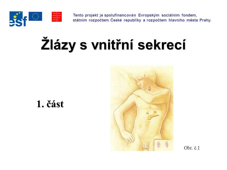 Žlázy s vnitřní sekrecí 1.část Obr.