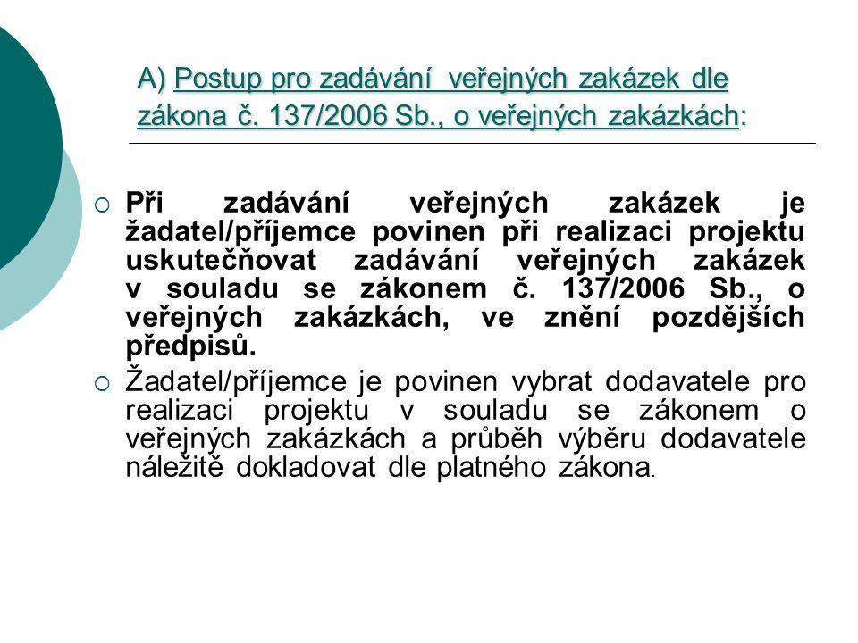 Zákon č.137/2006 Sb.