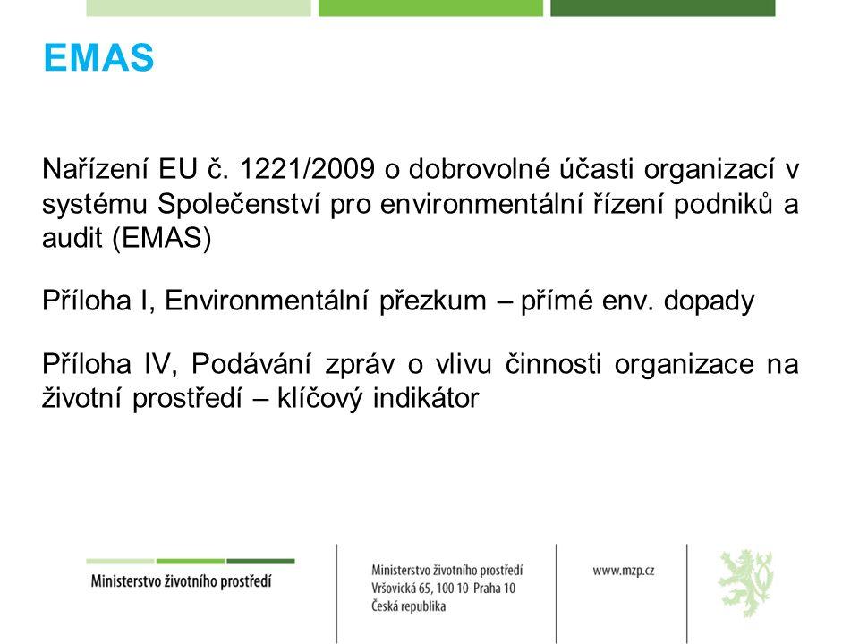 EMAS Nařízení EU č.