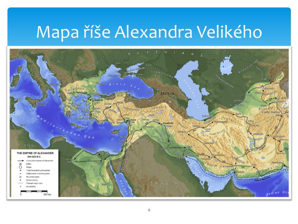 6 Mapa říše Alexandra Velikého