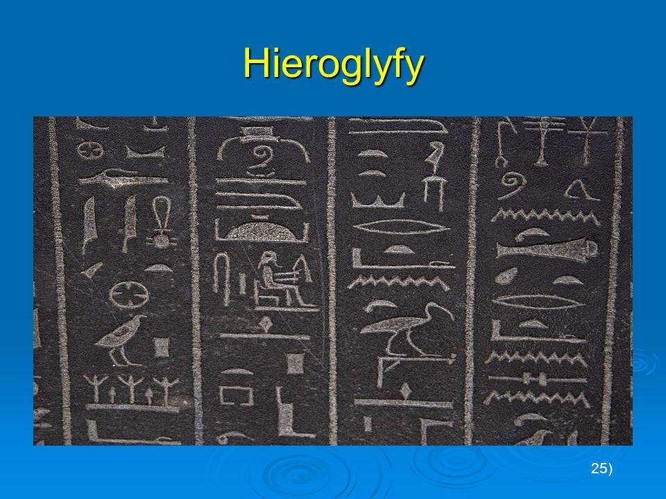 Hieroglyfy 25)