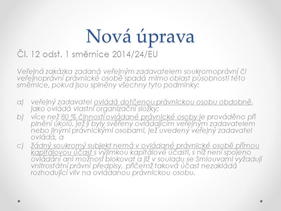 Nová úprava Čl. 12 odst.