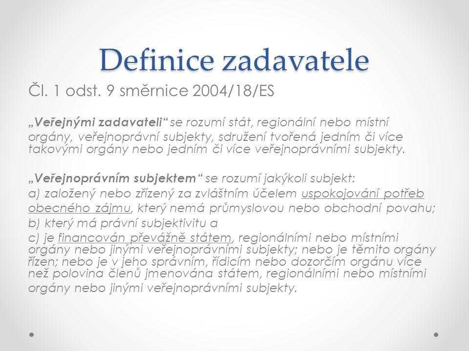 Definice zadavatele Čl. 1 odst.