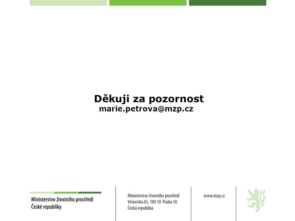 Děkuji za pozornost marie.petrova@mzp.cz