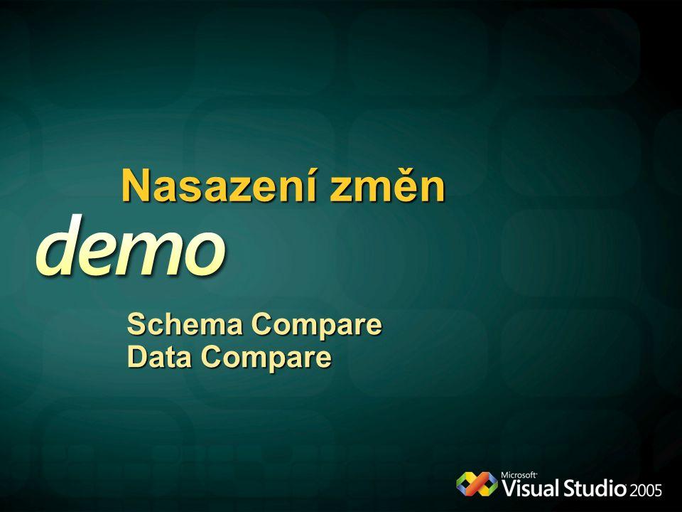 Nasazení změn Schema Compare Data Compare
