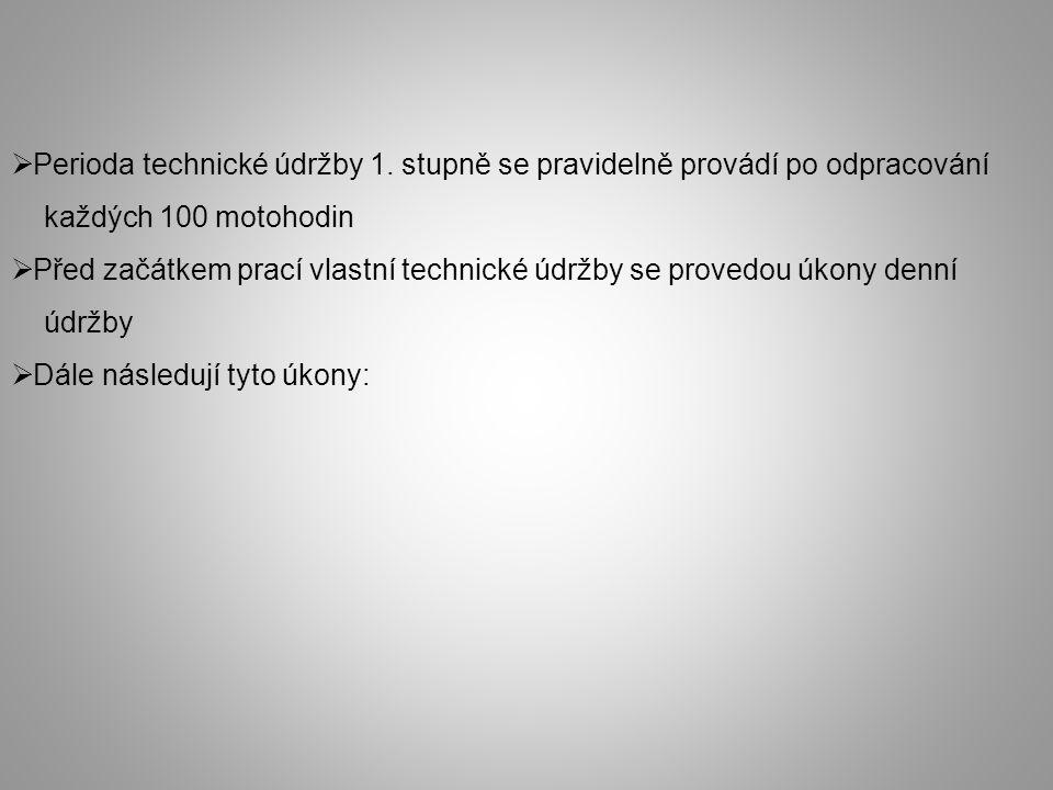  Perioda technické údržby 1.