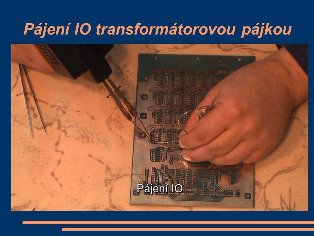 Pájení IO transformátorovou pájkou