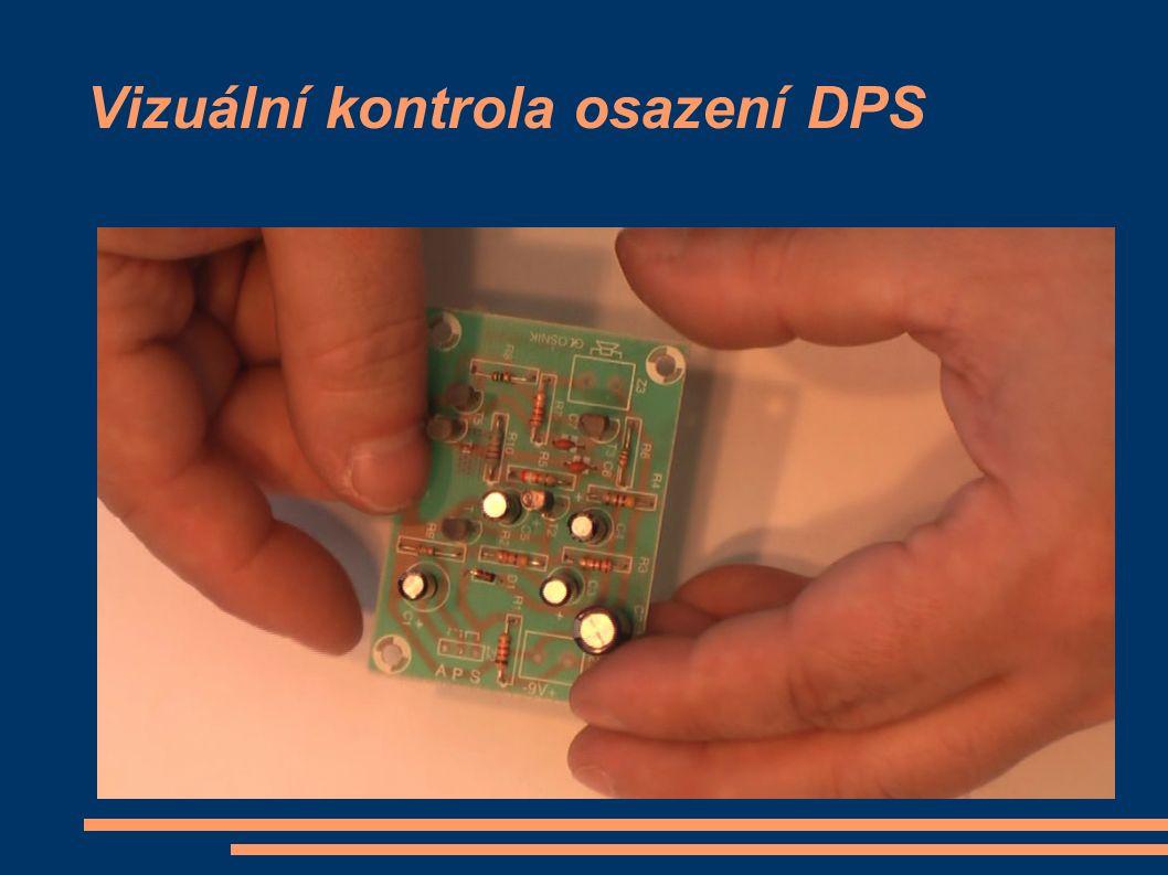 Vizuální kontrola osazení DPS