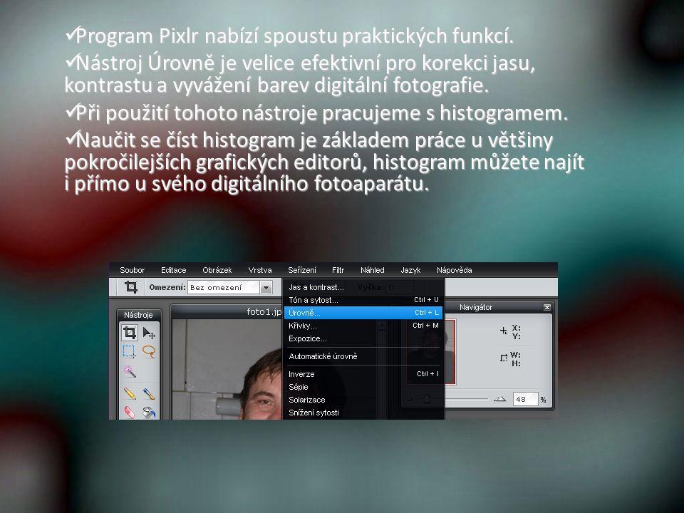Program Pixlr nabízí spoustu praktických funkcí. Program Pixlr nabízí spoustu praktických funkcí.