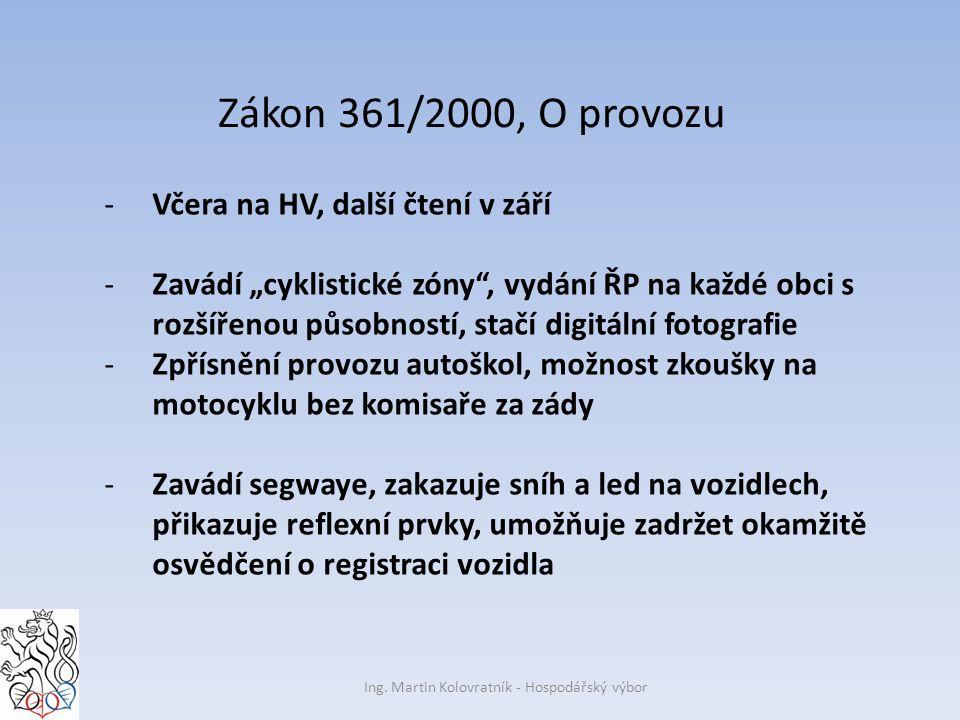 Zákon 361/2000, O provozu Ing.