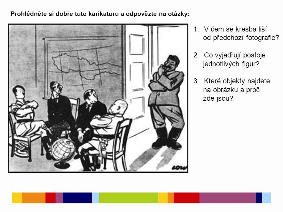 Prohlédněte si dobře tuto karikaturu a odpovězte na otázky: 1.V čem se kresba liší od předchozí fotografie.