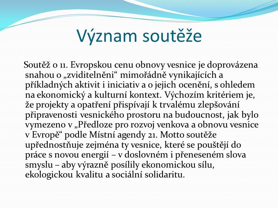 Význam soutěže Soutěž o 11.
