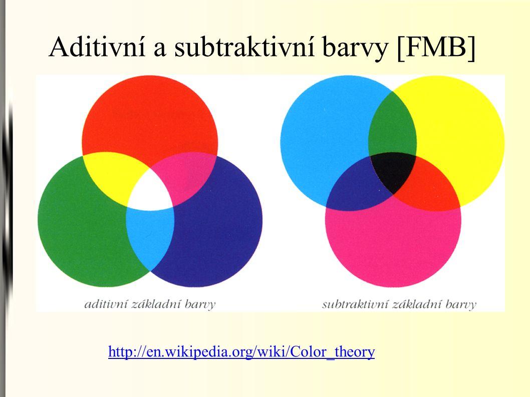 Aditivní a subtraktivní barvy [FMB] http://en.wikipedia.org/wiki/Color_theory
