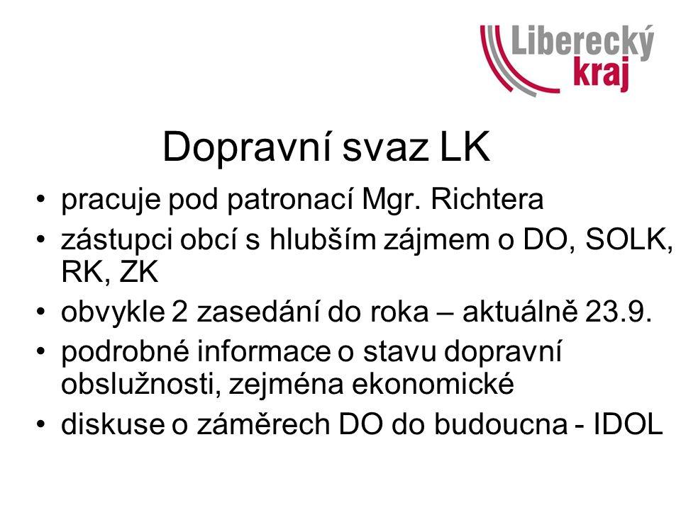Dopravní svaz LK pracuje pod patronací Mgr.