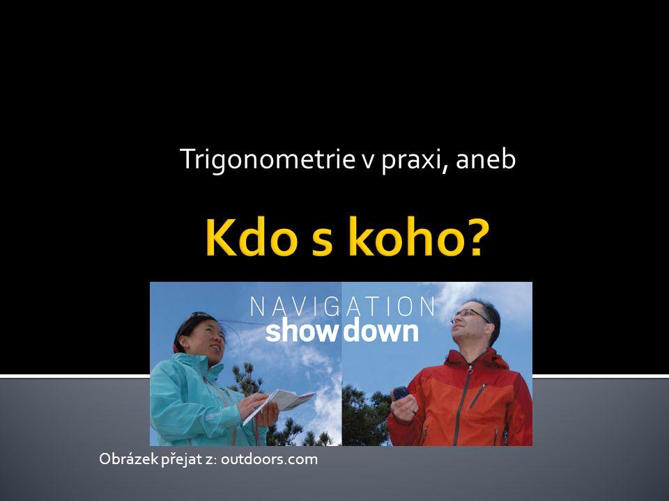Trigonometrie v praxi, aneb Obrázek přejat z: outdoors.com