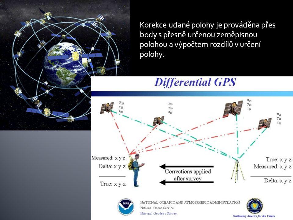 Korekce udané polohy je prováděna přes body s přesně určenou zeměpisnou polohou a výpočtem rozdílů v určení polohy.