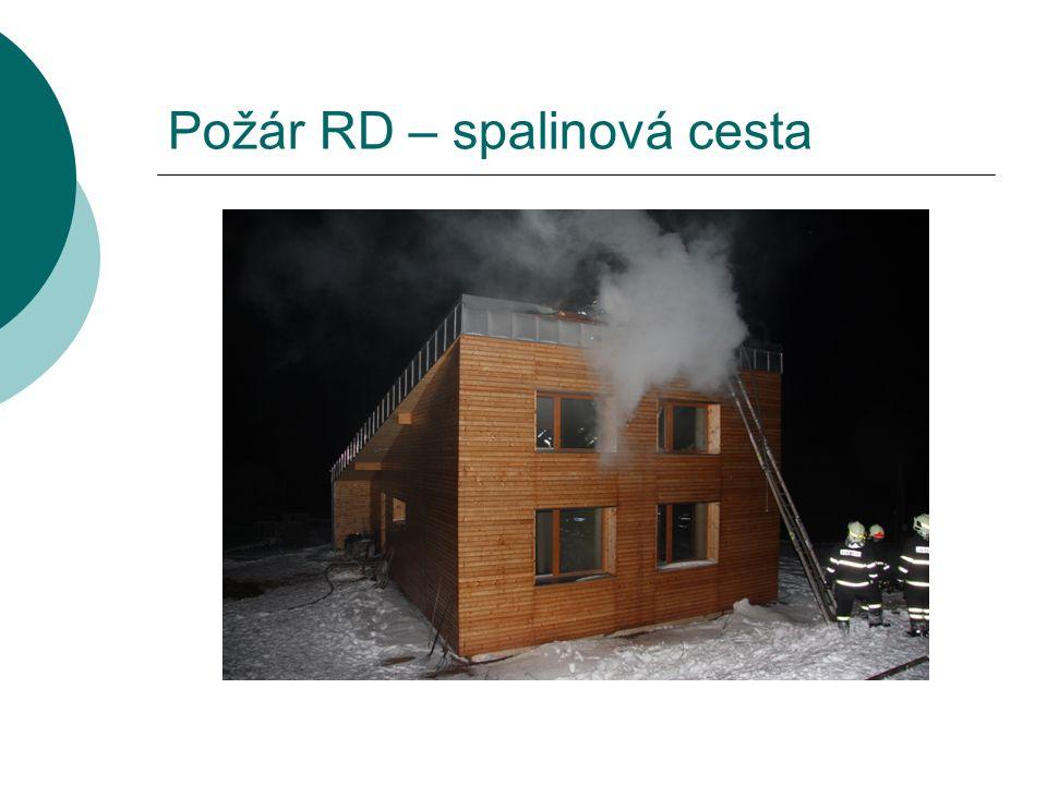 Požár RD – spalinová cesta