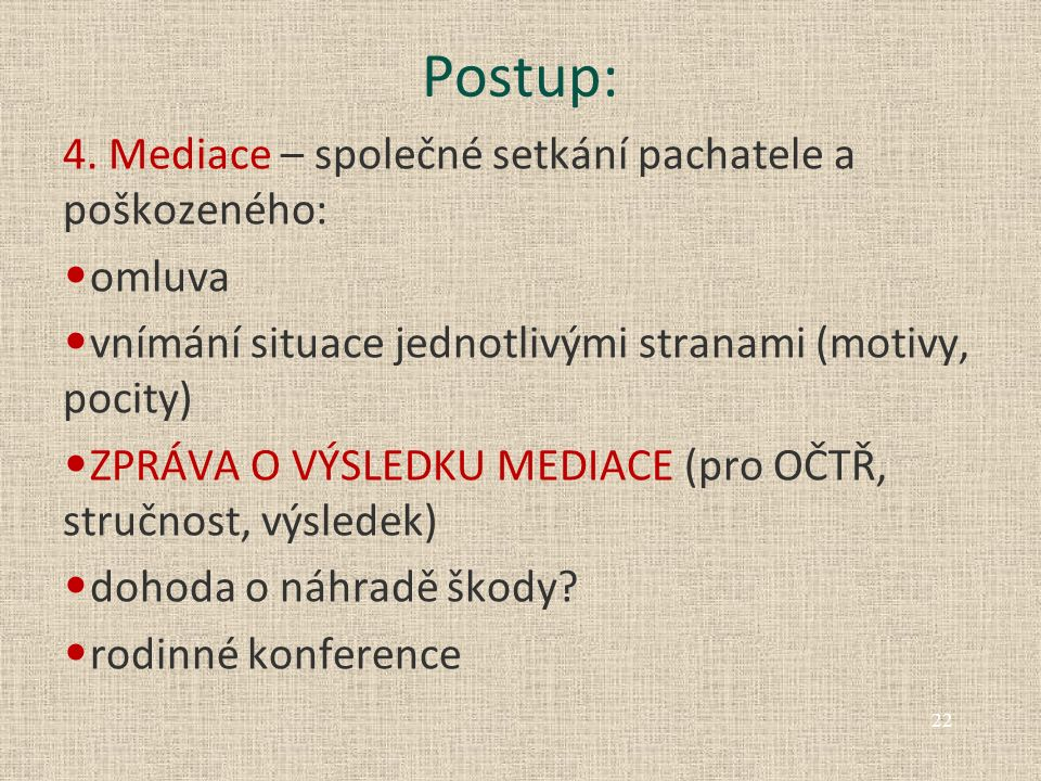 Postup: 4.