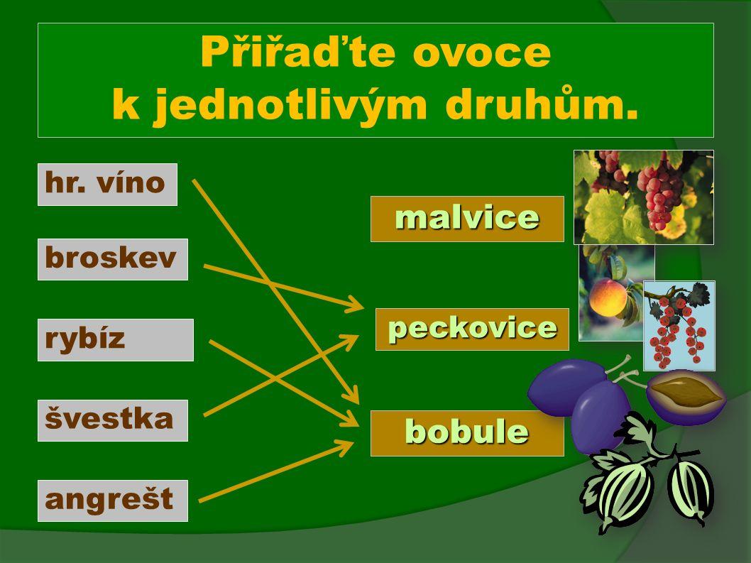 Které ovoce je cizokrajné.Pojmenujte ovoce a určete, jestli roste u nás nebo ne.