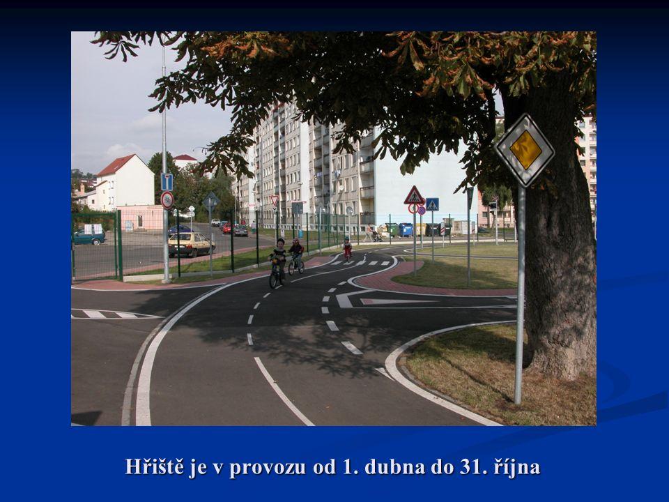 Hřiště je v provozu od 1. dubna do 31. října