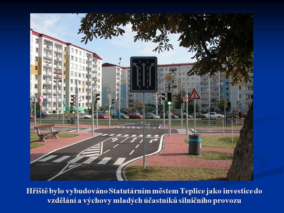Hřiště bylo vybudováno Statutárním městem Teplice jako investice do vzdělání a výchovy mladých účastníků silničního provozu