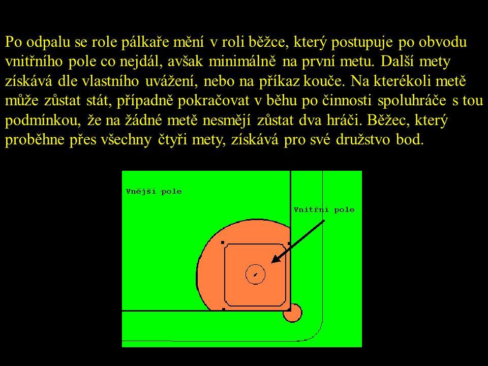 Posouzení odpalů ve vnějším poli prvním Záleží pouze na prvním dopadu míče správný odpal, Pokud odpálený míč poprvé dopadne na zem do vnějšího pole, pak se jedná o správný odpal, nezáleží už potom kam se vykutálí foulball Pokud odpálený míč poprvé dopadne na zem do zázemí a pak se vkutálí do vnějšího pole, nebo zůstane v zázemí pak se jedná o foulball