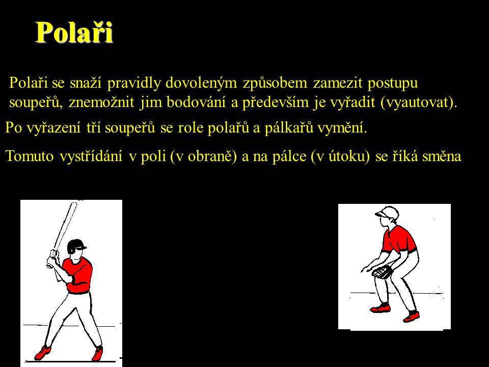 Posouzení správnosti odpalů vnitřním polivnějším poli Pravidla softballu rozlišují správnost odpalů na zem jiným způsobem ve vnitřním poli a jinak ve vnějším poli.