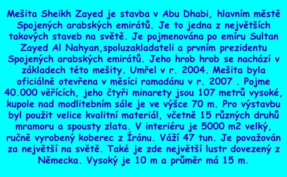 MEŠITA SHEIKH ZAYED ABU DHABI