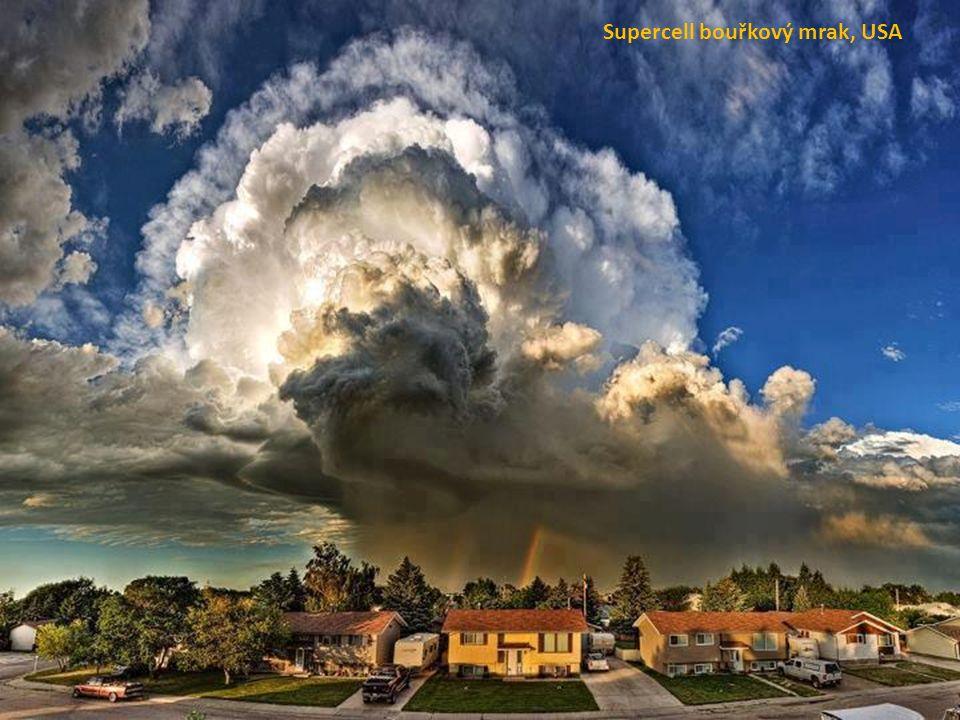 Supercell bouřkový mrak, USA