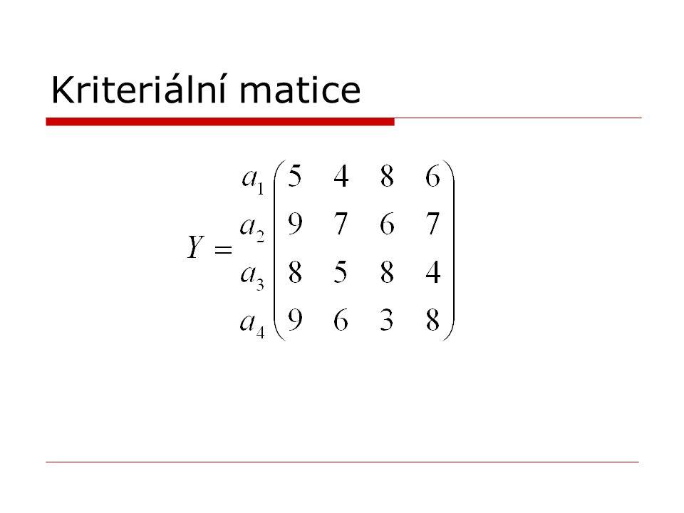 Kriteriální matice