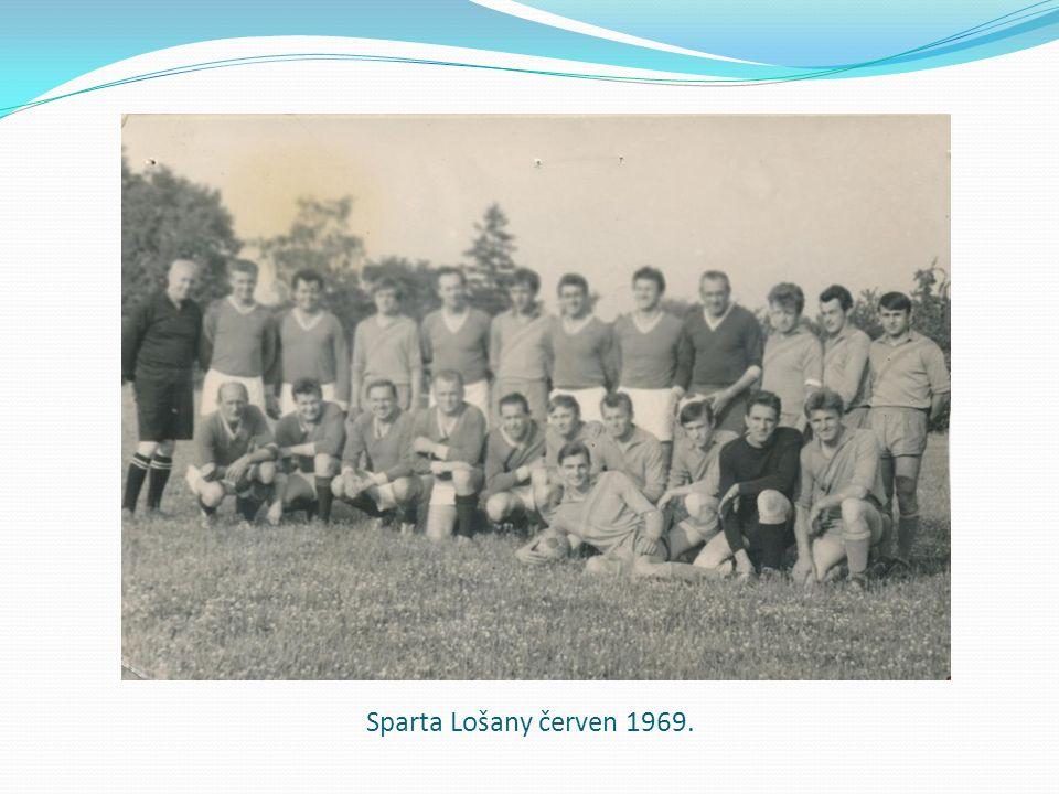 Sparta Lošany červen 1969.