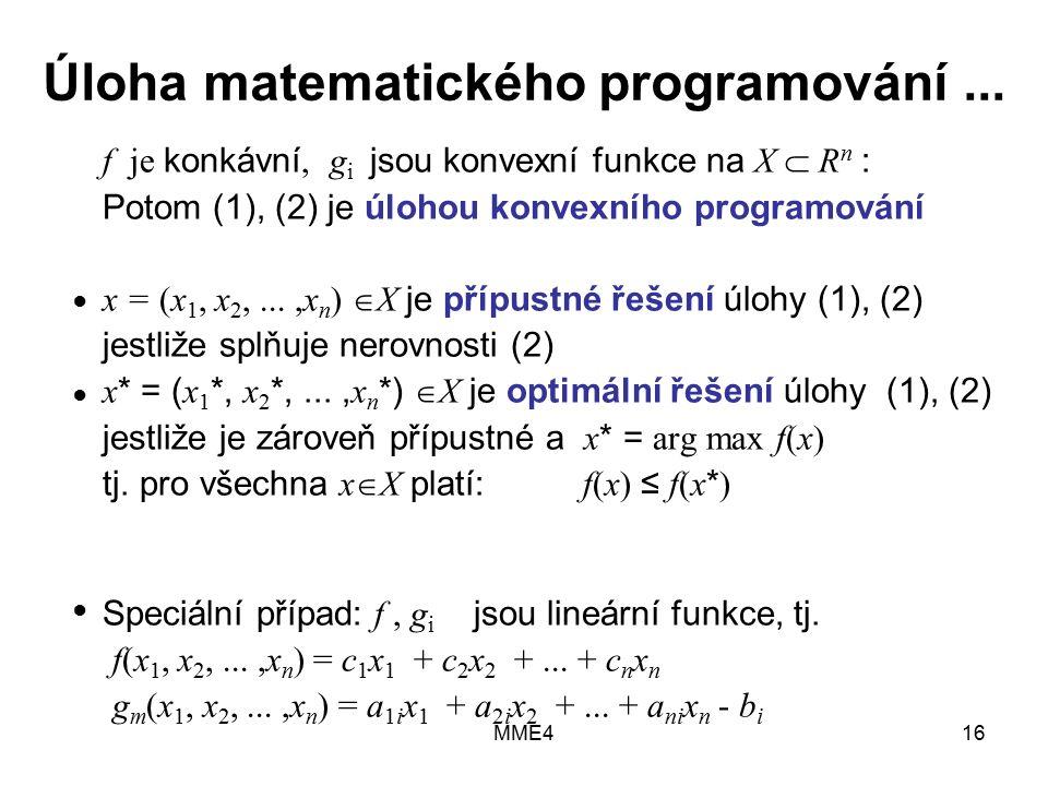 MME416 Úloha matematického programování...