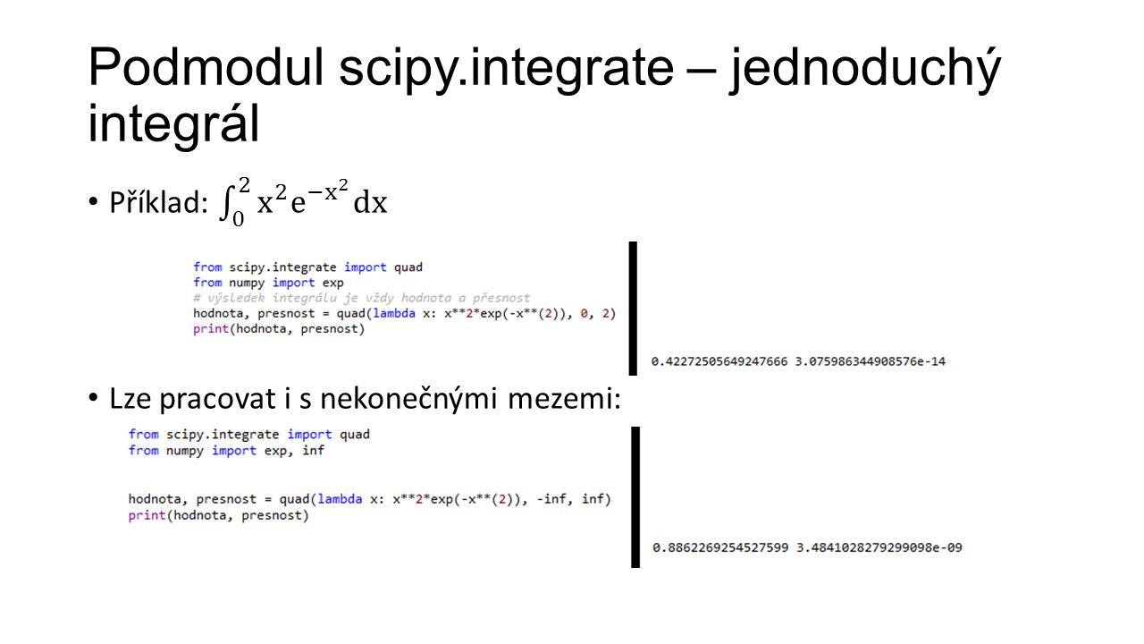 Podmodul scipy.integrate – jednoduchý integrál