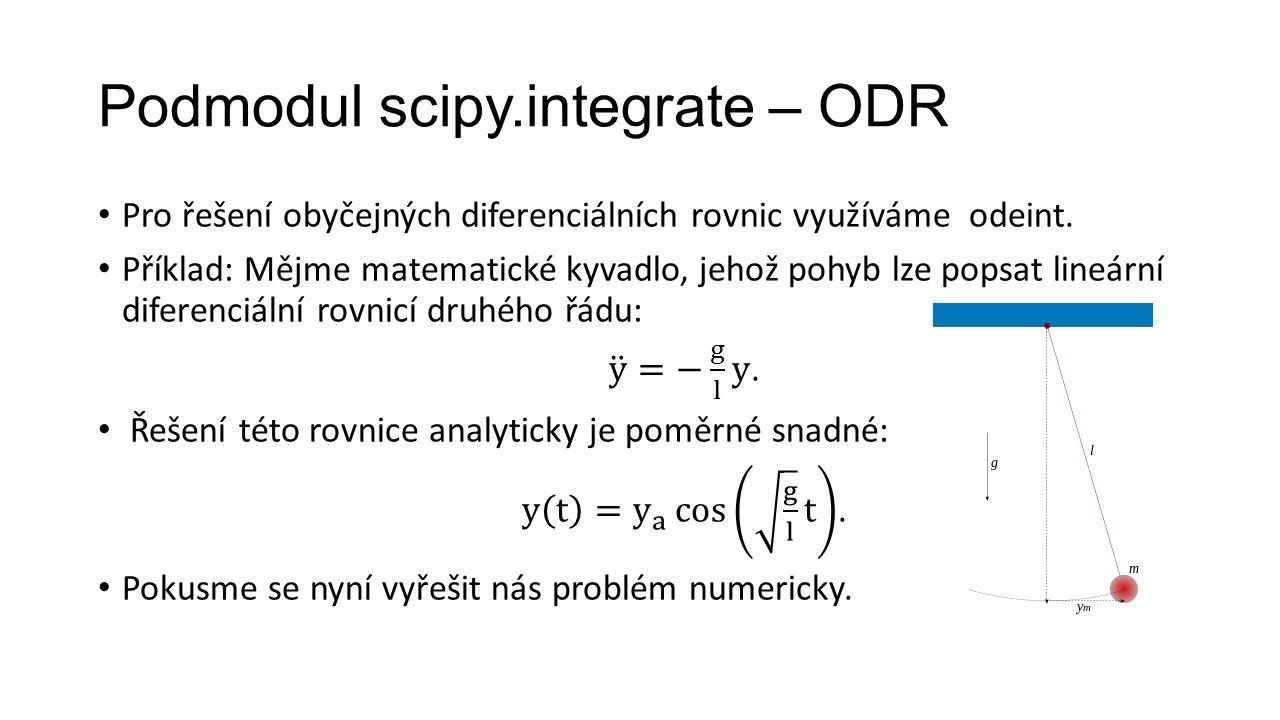 Podmodul scipy.integrate – ODR