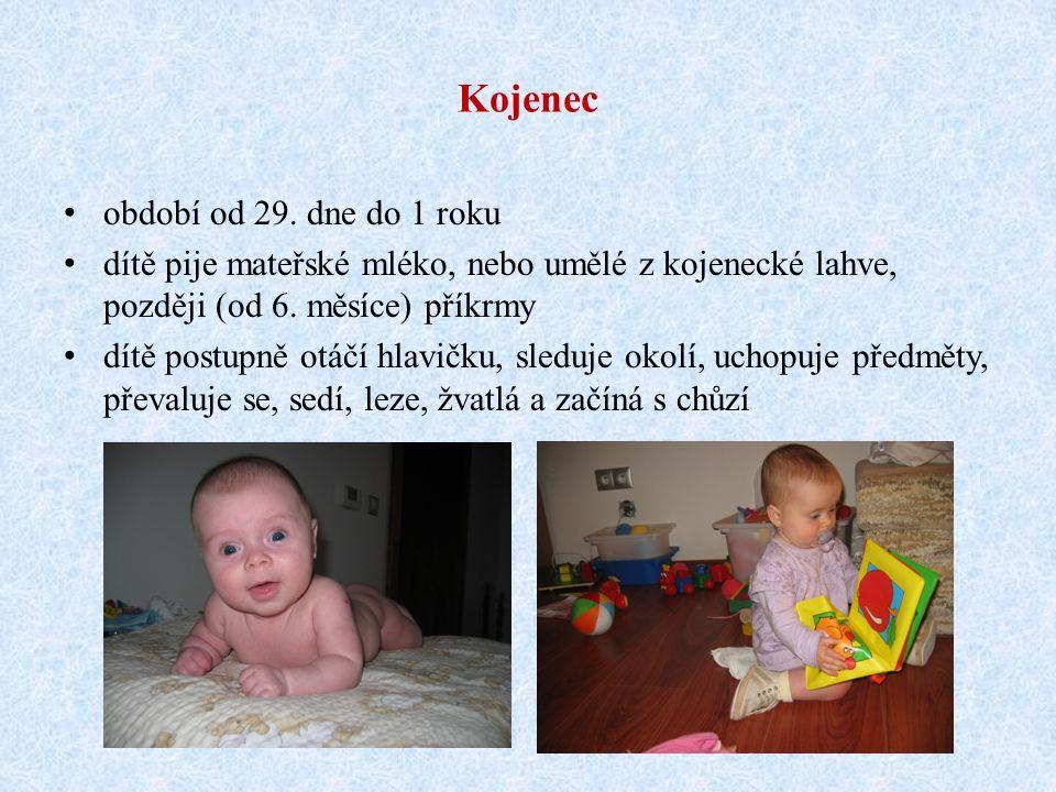 Novorozenec toto období začíná samostatným nádechem trvá prvních 28 dní od narození dítě ihned po narození saje a polyká dítě si zvyká na nové prostře