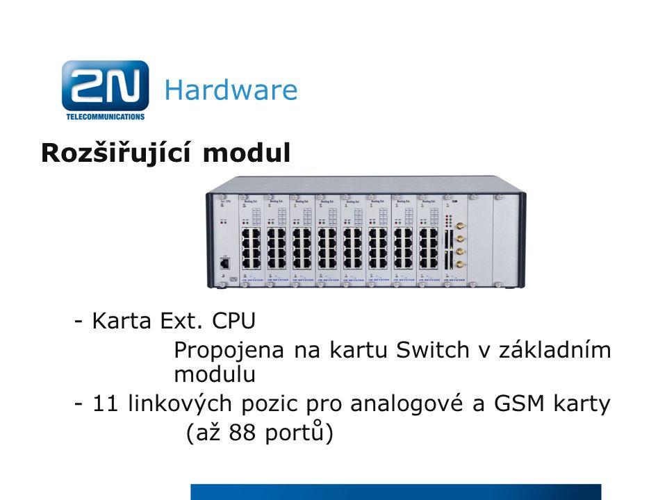 Hardware Rozšiřující modul - Karta Ext.