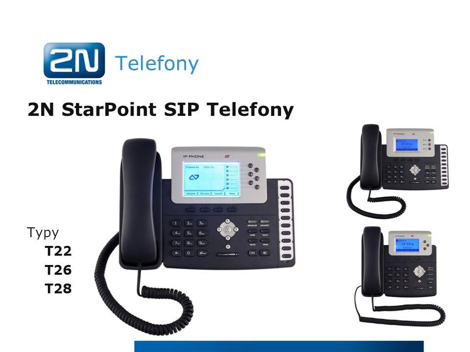 Telefony 2N StarPoint SIP Telefony Typy T22 T26 T28