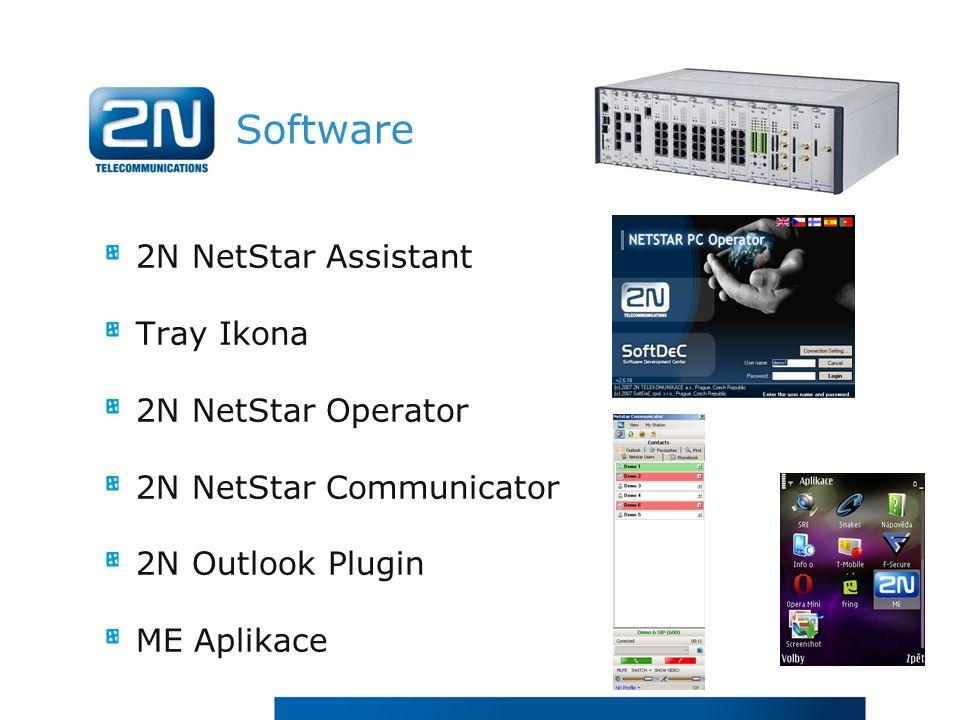 Software 2N NetStar Assistant Tray Ikona 2N NetStar Operator 2N NetStar Communicator 2N Outlook Plugin ME Aplikace