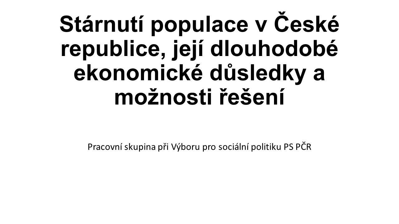 Stárnutí populace v České republice, její dlouhodobé ekonomické důsledky a možnosti řešení Pracovní skupina při Výboru pro sociální politiku PS PČR