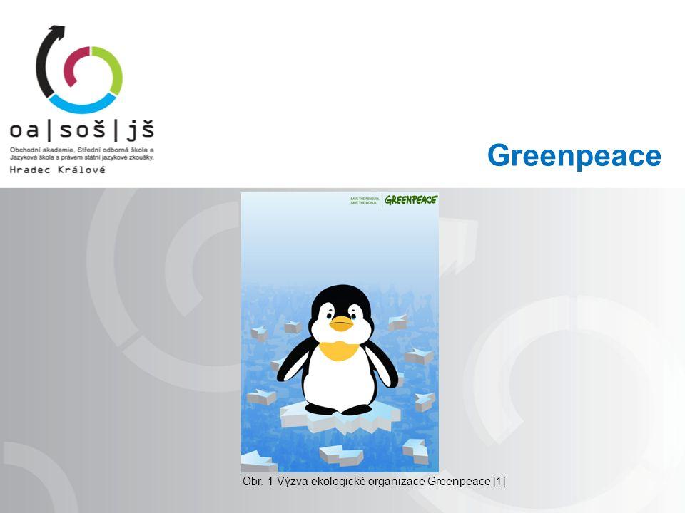 Greenpeace Obr. 1 Výzva ekologické organizace Greenpeace [1]