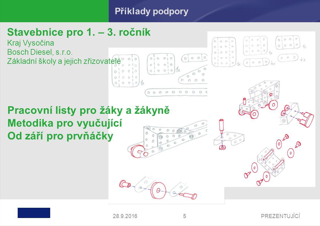PREZENTUJÍCÍ528.9.2016 Stavebnice pro 1. – 3. ročník Kraj Vysočina Bosch Diesel, s.r.o.