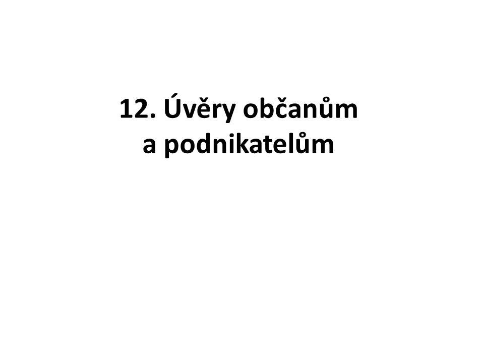 12. Úvěry občanům a podnikatelům