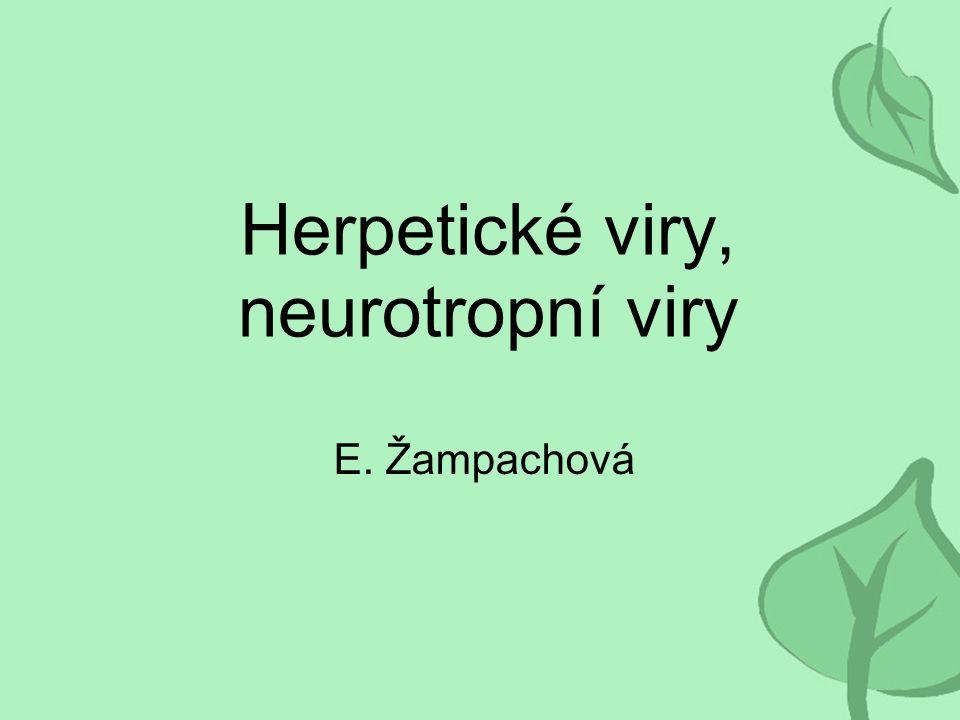 Herpetické viry, neurotropní viry E. Žampachová