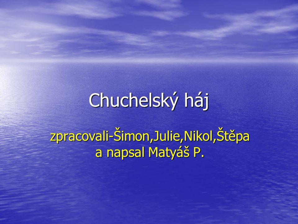 Chuchelský háj zpracovali-Šimon,Julie,Nikol,Štěpa a napsal Matyáš P.