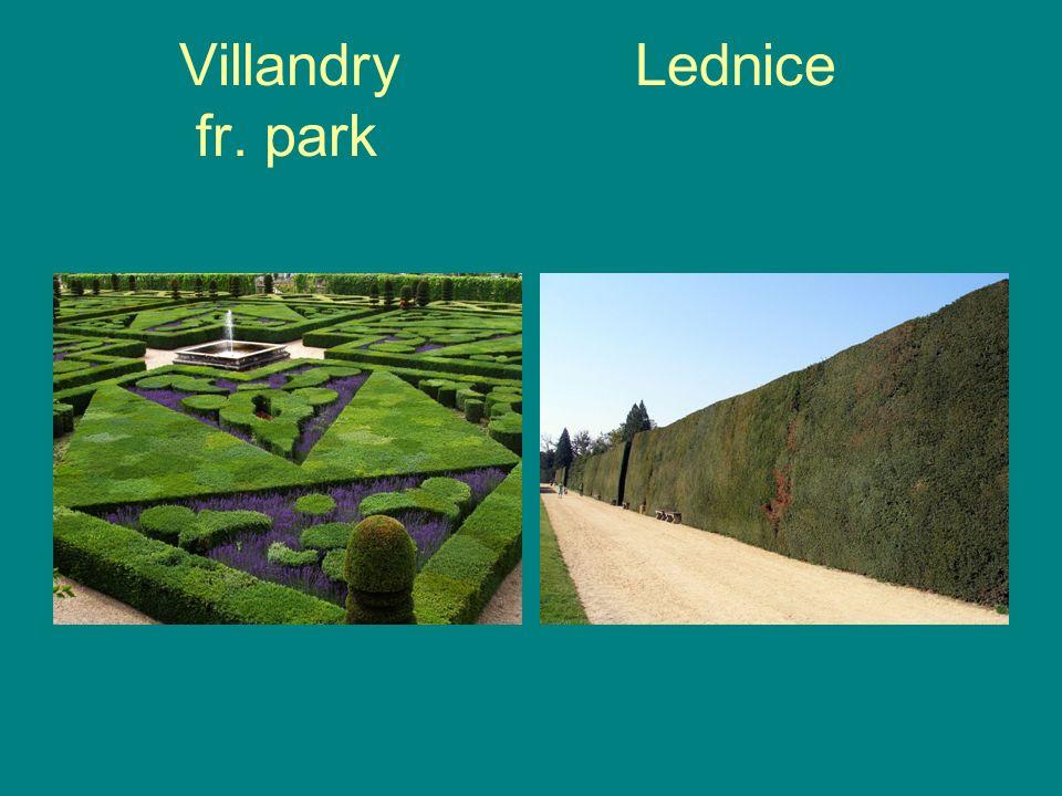 Villandry Lednice fr. park