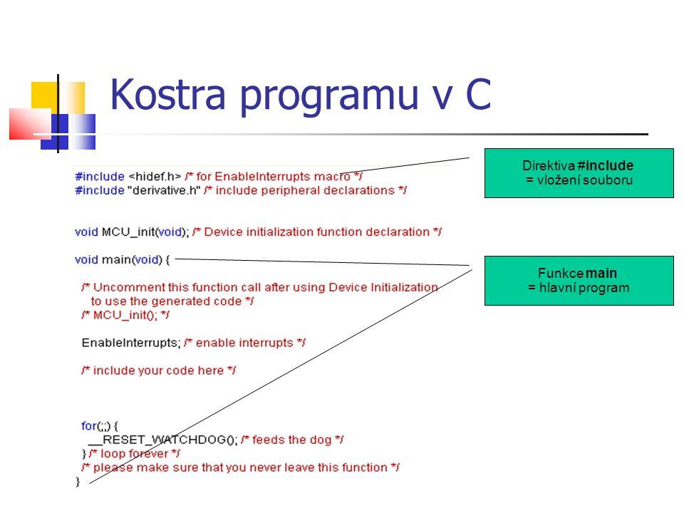 Obecné programové konstrukce proměnná, pole, cyklus, funkce…