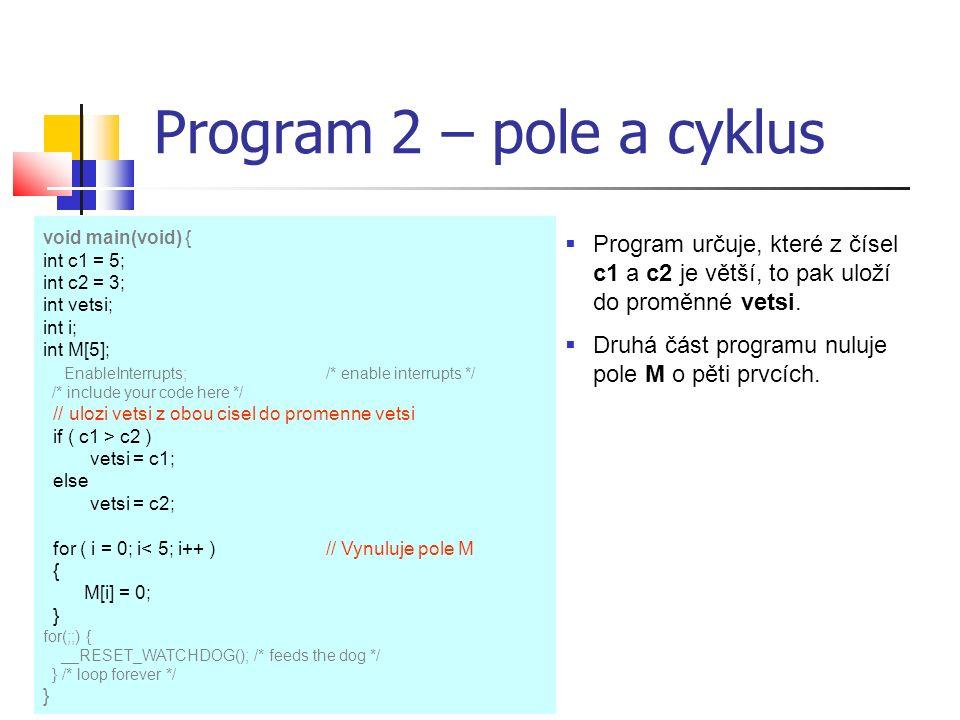 Využití displeje v jazyku C